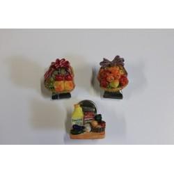 Magnet résine Fruits + pince + aimant