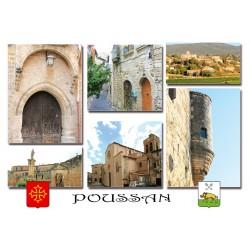 Carte postale Poussan 1