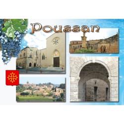 Carte postale Poussan 71