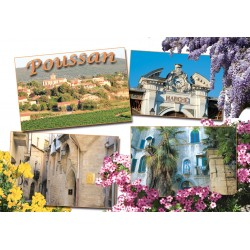 Carte postale Poussan 2405