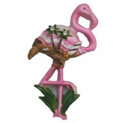 Magnet résine flamant rose 1