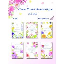 Cartes Fleurs romantiques