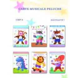Carte musicale enfant peluche