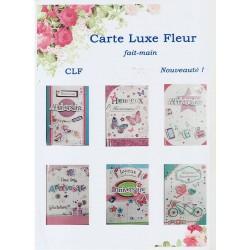 Cartes Luxe fleur