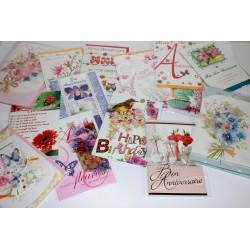 LOT CARTES FEMMES ASSORTIES