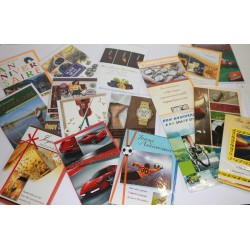 Lot cartes hommes assorties