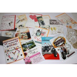 Lot de cartes mariage assorties