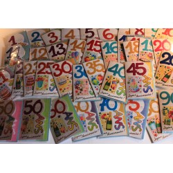 Lot de 58 cartes ages