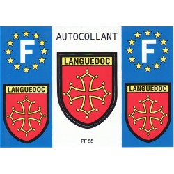 3 autocollants Languedoc